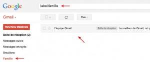 Liste des mails dans un libelle