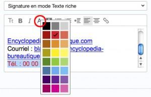 Changer la couleur du texte