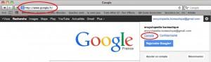 Accédez au compte google