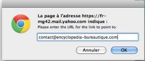 Insérer un lien dans un message d'absence automatique