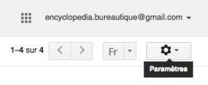 Accédez aux réglage des paramètre gmail