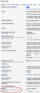 Paramètres généraux de Gmail