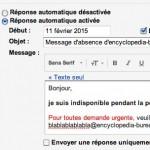 Message de réponse automatique personnalisé