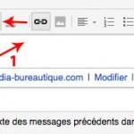 Insérer un lien internet ou email