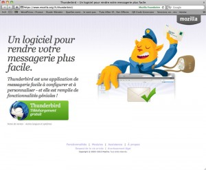 Site officiel de Thunderbird