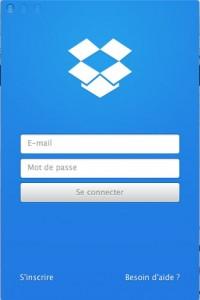 Configurer le compte Dropbox