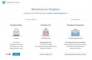 Compte Dropbox gratuit