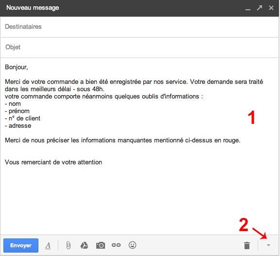 Comment créer des réponses standardisées sous Gmail