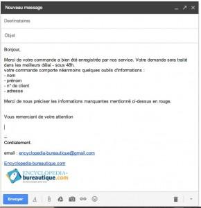 Réponse standard insérée dans votre mail Gmail