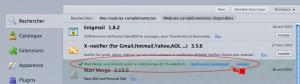 redémarrer Thunderbird pour finir l'installation de MergeMail