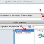 Ajouter une image à une signature thunderbird