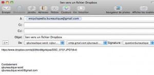 Lien de votre fichier partagé sous dropbox