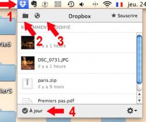 fenêtre dropbox sous mac