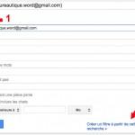 Création d'un filtre à partir d'un mail