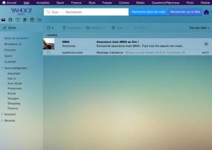 fond d'écran par défaut de la messagerie YahooMail