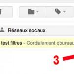 Sélection email gmail pour créer un filtre