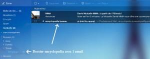 vérification d'un filtre sous YahooMail