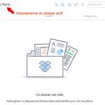 Dossier dropbox actif