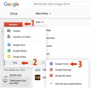 Accédez à Google Form< avec Drive