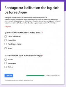 Prévisualisation du sondage