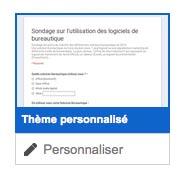 Personnaliser son thème google forms
