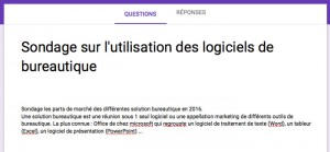 Titre et description du sondage google forms