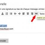 Insérer un lien email dans une signature sous Outlook