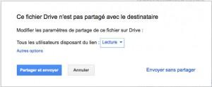 partage du fichier avec Gmail