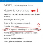 Envoi de réponses automatiques en cas d'absence