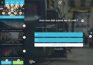 écran de contrôle questionnaire