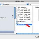 sélectionner un fichier à ajouter à OneDrive