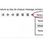 Choisir le mode Html pour la signature Outlook