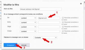 Créer un filtre pour un nom de domaine