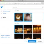 Sélection plusieurs photos dans dropbox pour Paper