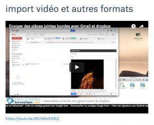 vidéo youtube sous Paper
