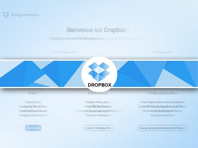 Dropbox : création et installation