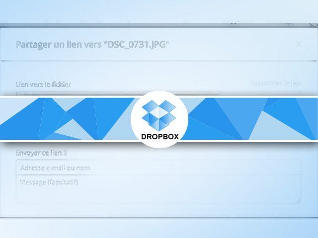 Le partage de fichier Dropbox