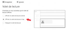 Afficher la lecture des emails sous Outlook