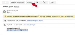 Annuler la mise en spam d'email