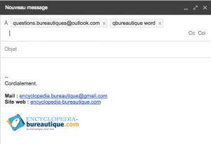Envoyer un mail avec un groupe de contacts