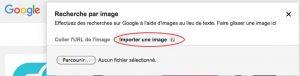 importer une image sous google image