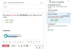 Modèle Outlook personnalisé