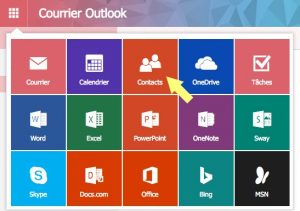 Application Contacts Outlook