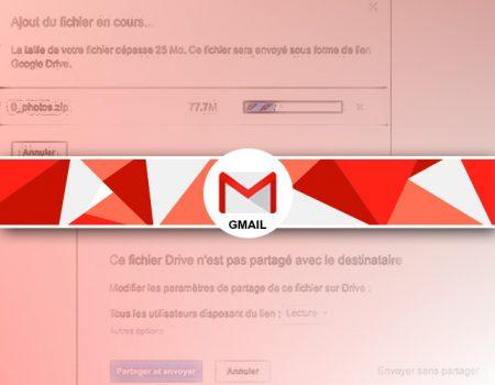 Comment envoyer un mail avec une pièce jointe lourde sous Gmail ?