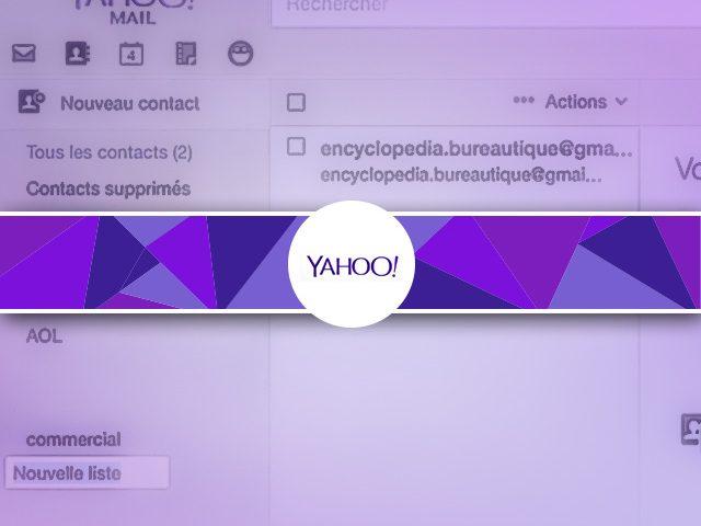 Comment créer simplement une liste de diffusion de contacts sous Yahoo ?