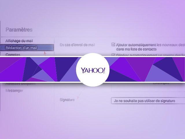 Comment créer une signature à un email sous yahooMail ?