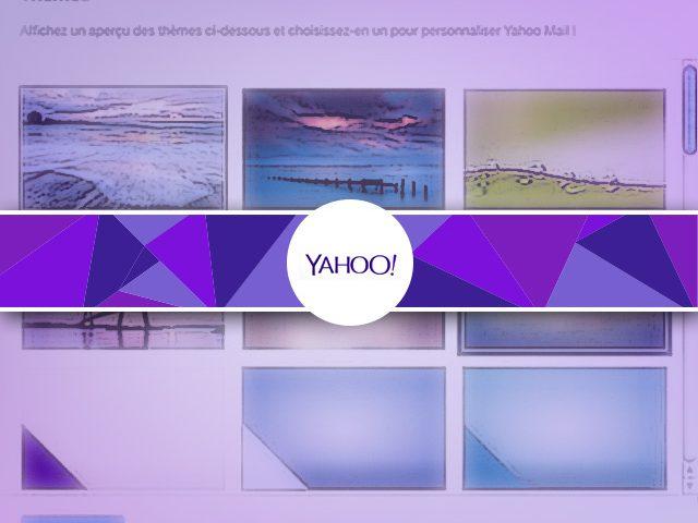 Comment changer le fond d'écran Yahoo Mail