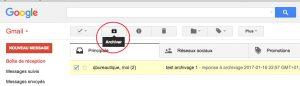 Archiver un email sous Gmail