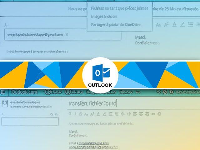 Comment envoyer une pièce jointe lourde avec la messagerie Outlook ?