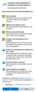 Droit de Boomerang Outlook